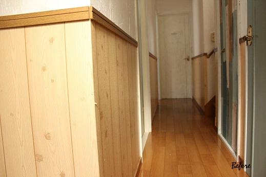 廊下のDIY全セルフリフォーム終了&壁紙貼り方のポイント_f0023333_23234658.jpg