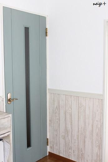 廊下のDIY全セルフリフォーム終了&壁紙貼り方のポイント_f0023333_23513952.jpg