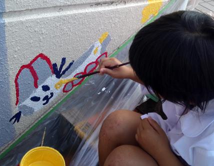 壁画を描こう!「3びきのかめ・1まんねんのぼうけん!」⑦_f0247351_847206.jpg