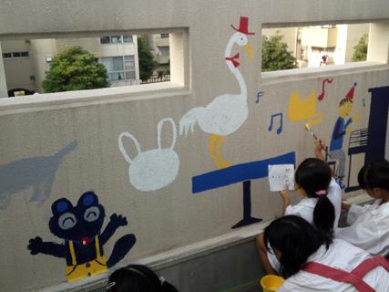 壁画を描こう!「3びきのかめ・1まんねんのぼうけん!」⑦_f0247351_849756.jpg