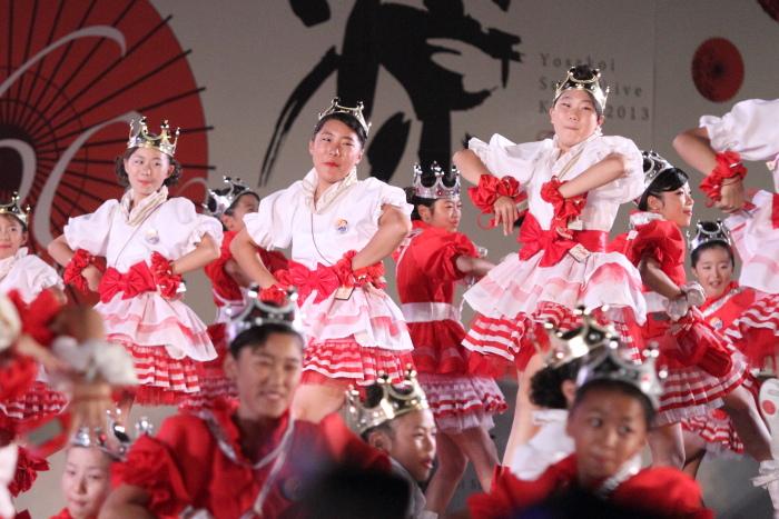 第60回よさこい祭り 後夜祭 サニーグループよさこい踊り子隊SUNNYS その1_a0077663_17552632.jpg