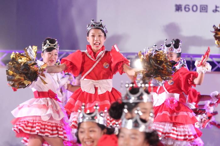 第60回よさこい祭り 後夜祭 サニーグループよさこい踊り子隊SUNNYS その1_a0077663_1755381.jpg