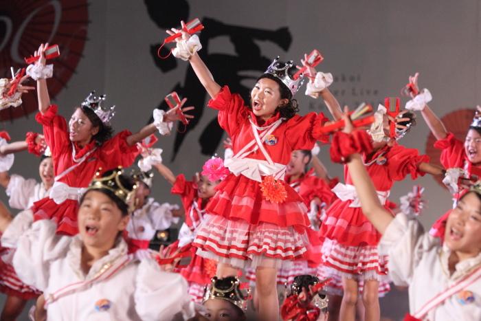第60回よさこい祭り 後夜祭 サニーグループよさこい踊り子隊SUNNYS その2_a0077663_1843081.jpg