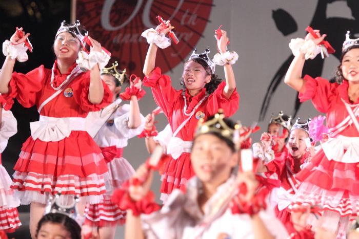 第60回よさこい祭り 後夜祭 サニーグループよさこい踊り子隊SUNNYS その2_a0077663_1843270.jpg