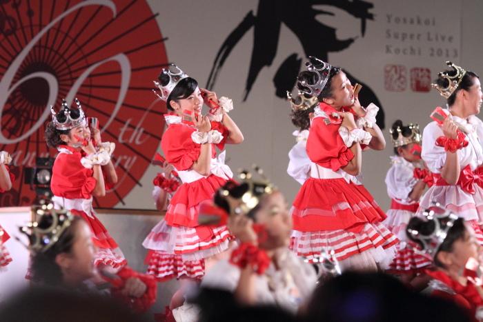 第60回よさこい祭り 後夜祭 サニーグループよさこい踊り子隊SUNNYS その2_a0077663_1844741.jpg