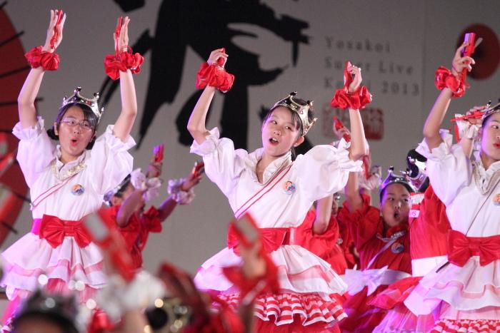 第60回よさこい祭り 後夜祭 サニーグループよさこい踊り子隊SUNNYS その2_a0077663_1844997.jpg
