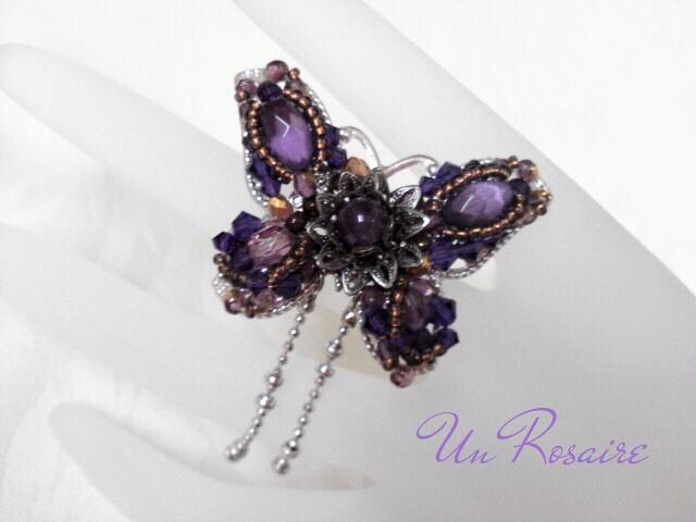 「蝶」のブローチ~「紫」を集めて..._a0142642_1943155.jpg