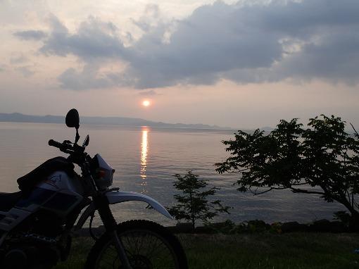 夏の夕暮れタンデム/布引高原~猪苗代湖_a0279883_6364887.jpg