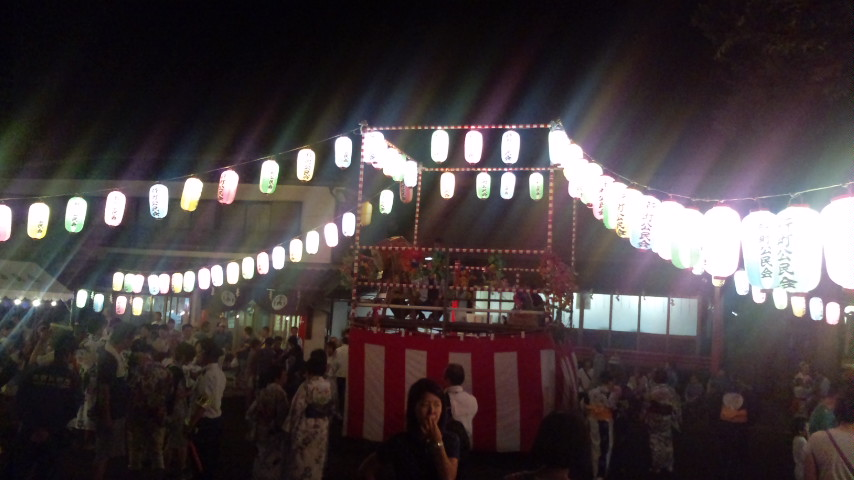 久富稲荷神社 盆踊り_c0092197_3325138.jpg