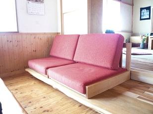座椅子風ベンチソファー