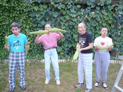 8/21ヘチマの収穫☆_a0154110_13223421.jpg