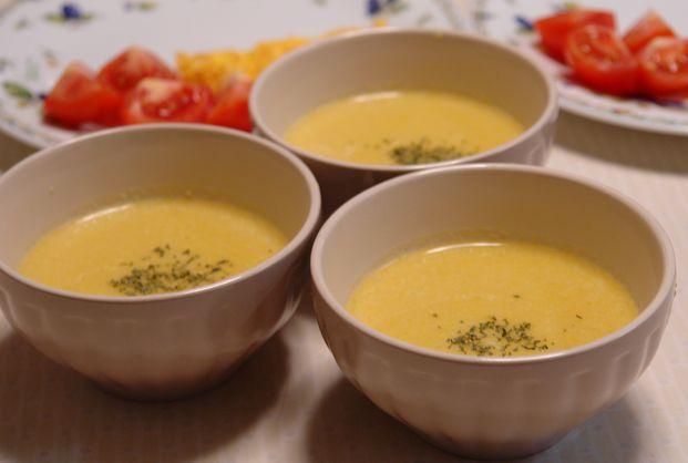 かぼちゃとコーンの豆乳スープ_f0191248_52717.jpg