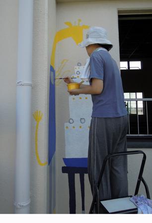 壁画を描こう!「3びきのかめ・1まんねんのぼうけん!」⑧_f0247351_838619.jpg