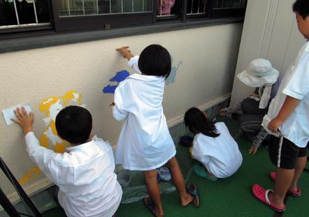 壁画を描こう!「3びきのかめ・1まんねんのぼうけん!」⑧_f0247351_8404057.jpg