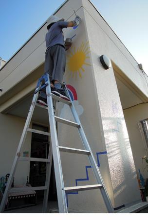 壁画を描こう!「3びきのかめ・1まんねんのぼうけん!」⑧_f0247351_8411392.jpg