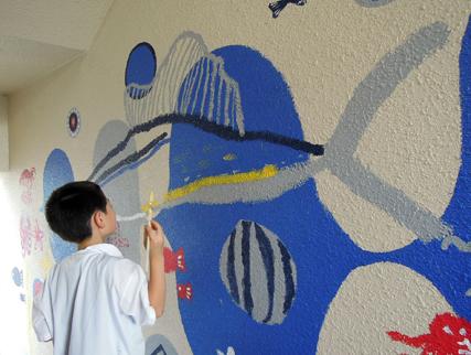 壁画を描こう!「3びきのかめ・1まんねんのぼうけん!」⑨_f0247351_84888.jpg