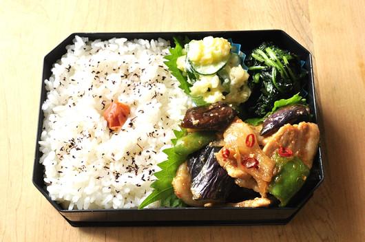 茄子と豚のピリ辛炒め弁当_b0171098_11215797.jpg