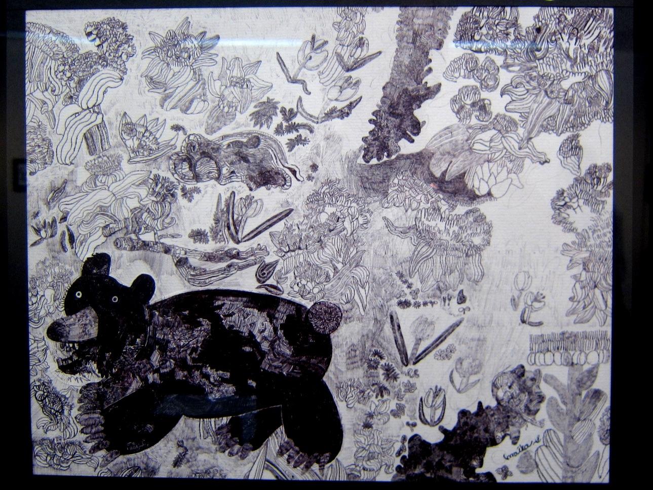 2163) 「鈴木麻衣子ボールペン画展 『クマと森』」 時計台 8月19日(月)~8月24日(土)   _f0126829_13483597.jpg
