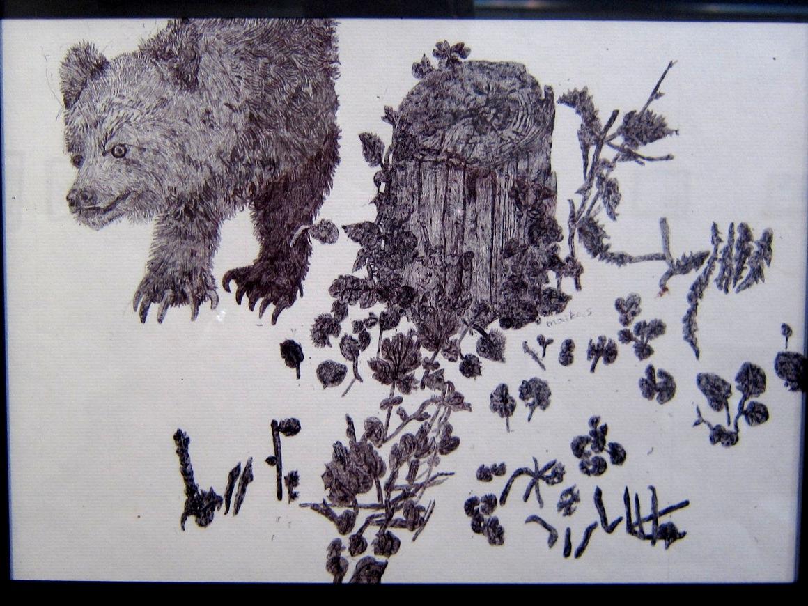 2163) 「鈴木麻衣子ボールペン画展 『クマと森』」 時計台 8月19日(月)~8月24日(土)   _f0126829_1349096.jpg