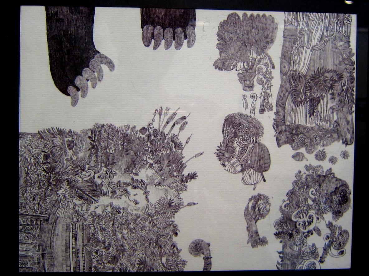 2163) 「鈴木麻衣子ボールペン画展 『クマと森』」 時計台 8月19日(月)~8月24日(土)   _f0126829_1356160.jpg