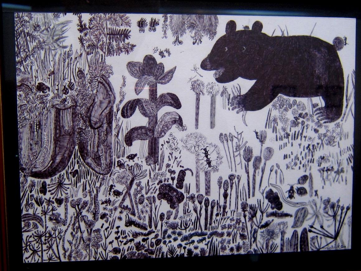 2163) 「鈴木麻衣子ボールペン画展 『クマと森』」 時計台 8月19日(月)~8月24日(土)   _f0126829_1375065.jpg