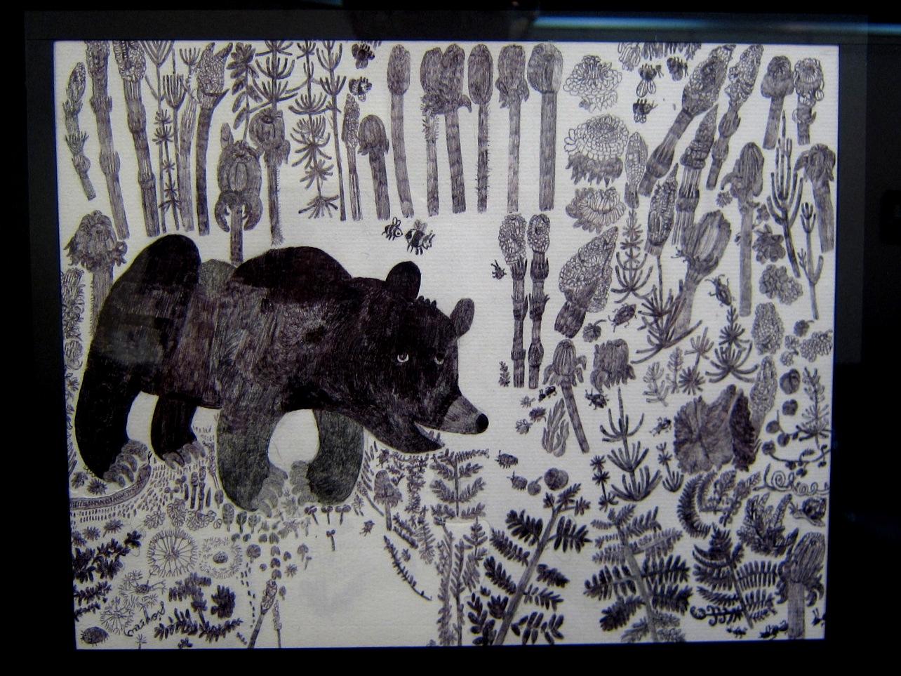 2163) 「鈴木麻衣子ボールペン画展 『クマと森』」 時計台 8月19日(月)~8月24日(土)   _f0126829_137562.jpg