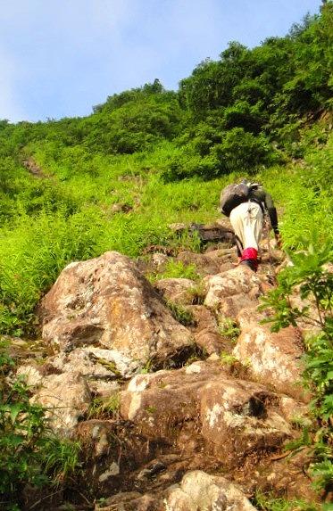 <2013年8月6~9日>越後の奥深き名峰(前編):奥只見の峻嶮峰「荒沢岳」_c0119160_1452491.jpg