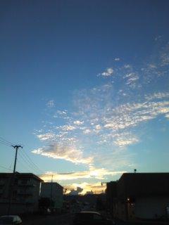 夕焼け_c0241324_2303517.jpg
