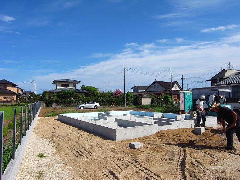 津田の家 基礎完成 2013/8/26_a0039934_17383513.jpg