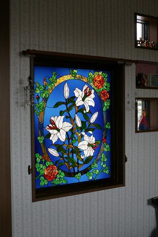 カサブランカと薔薇のパネル_a0278866_2314210.jpg