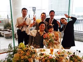 友人の結婚式の二次会にて_d0297177_2355431.jpg