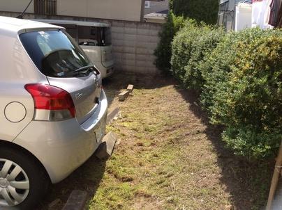 駐車場の除草と除草剤散布_c0186441_17303373.jpg