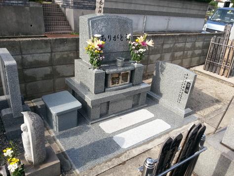 福山市 洋型墓石施工例_c0160758_15464234.jpg