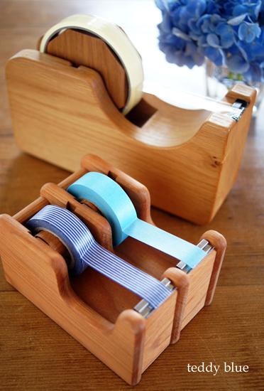 wooden tape dispencers  木製のテープカッター_e0253364_2210425.jpg