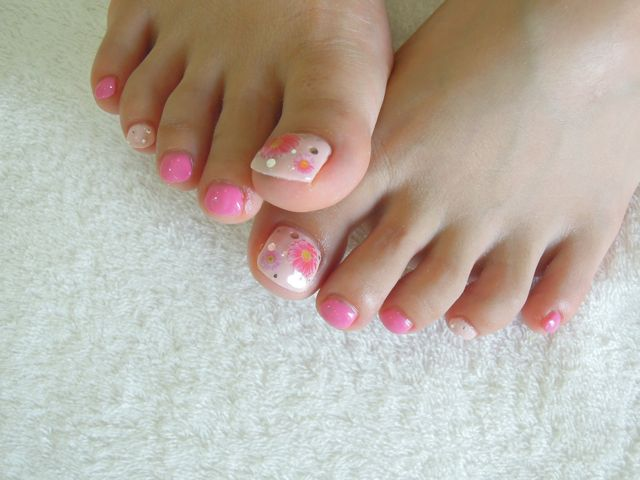 Pink Flower Nail_a0239065_14453054.jpg
