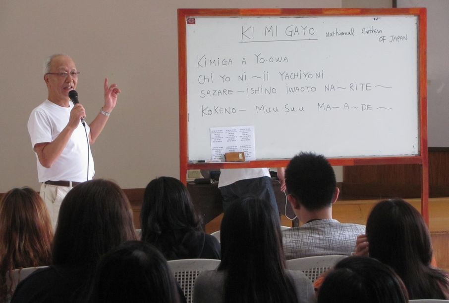 フィリピン・バギオ:日本人移民110周年祭に向けて 「君が代」の練習_a0109542_19271474.jpg