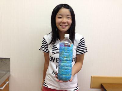城陽教室〜ペットボトル貯金箱〜_f0215199_15111881.jpg