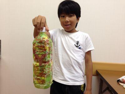 城陽教室〜ペットボトル貯金箱〜_f0215199_15111995.jpg