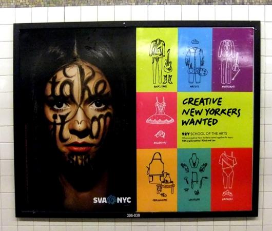 NYっぽいポスター「クリエイティブなニューヨーカー求む」と「ここにいますけど、何か?」_b0007805_0333066.jpg