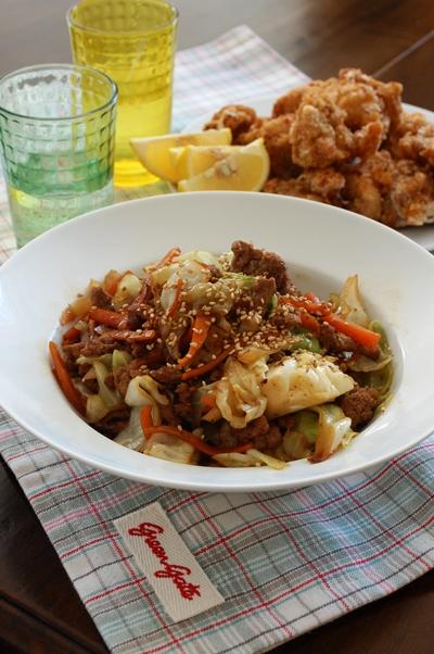 キャベツとひき肉のオイスター柚子胡椒炒め_d0104926_1142682.jpg