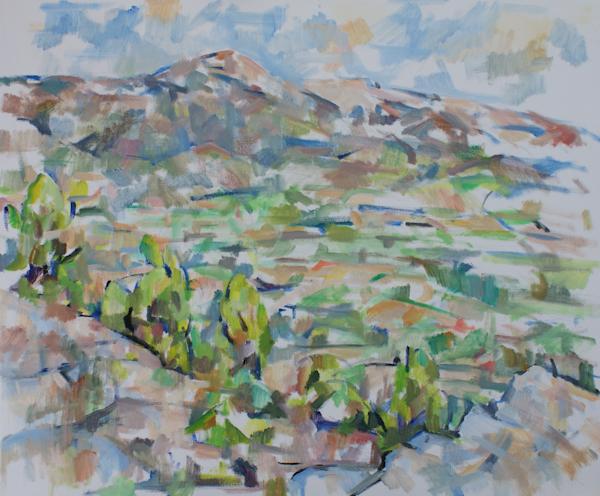 白い岩とヴァントゥー山(第一、第二段階)_c0236929_13543081.jpg
