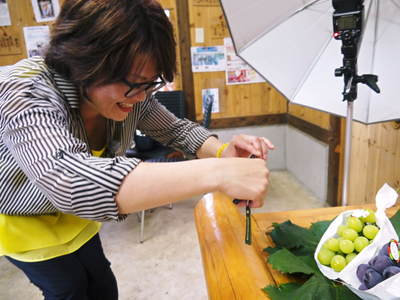 熊本ぶどう 社方園 8/29テレビタミン出演のメイキング裏話!!_a0254656_18115011.jpg