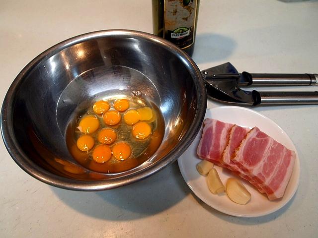 うずら卵のカルボナーラ_a0258686_72922.jpg