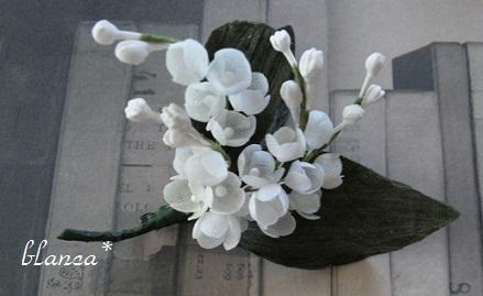 「ハナとハリガネ展」blanca*さんのコサージュ。_e0060555_11513977.jpg