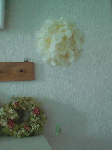 ピュアホワイト&グリーン紫陽花ボール_c0207719_14554536.jpg
