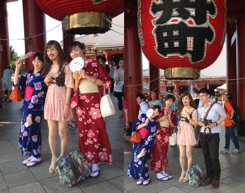 浅草シリーズ 台湾から浴衣美人2人と_d0119642_10505124.jpg