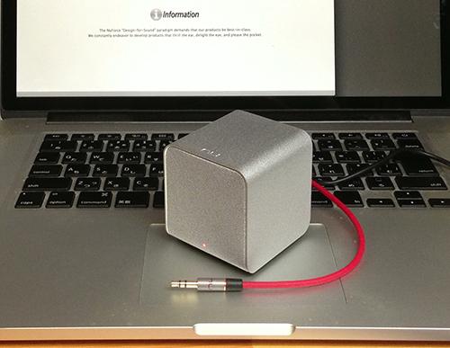 久しぶりの衝動買い、サイズからは想像付かない高音質 NuForce Cube!_b0194208_2144772.jpg