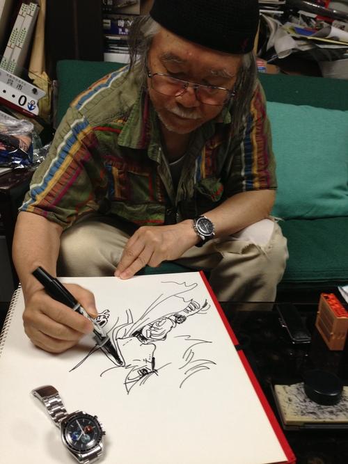 第70回ベネチア国際映画祭に松本零士氏、オメガを装着して登場_f0039351_2045896.jpg