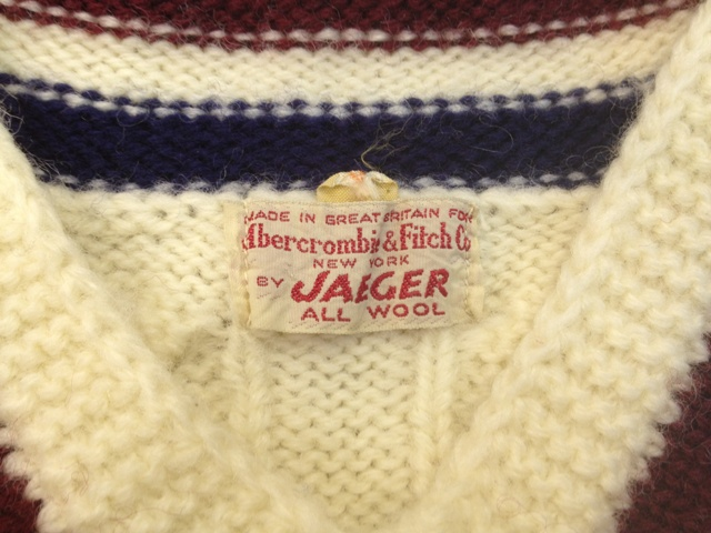 60\'S  Abercrombie&Fitch Co By JAEGER イギリス製セーターなど_c0144020_11445657.jpg