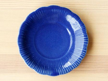 藤塚さんのルリ釉花形4.5寸皿。_a0026127_16382929.jpg